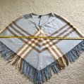Burberry Light Sky Blue Euc Vintage Nova Check Poncho/Cape Size OS (one size) Burberry Light Sky Blue Euc Vintage Nova Check Poncho/Cape Size OS (one size) Image 9