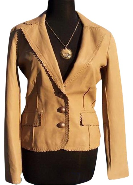 Item - Camel Lamb Top Western Flair Color S Jacket Size 6 (S)