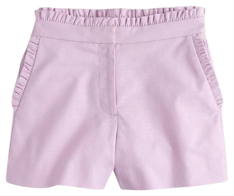 J Crew Purple Ruffled High-waisted Shorts Size 00 (XXS, 24)
