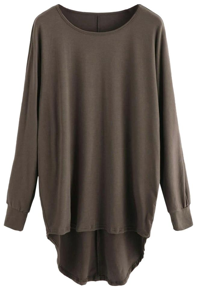 fa4f06c8c7 SheIn Brown High Low Oversized Batwing Blouse Size 4 (S) - Tradesy