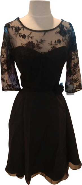 Item - Black with Embroidered Lace Style # 6746s Short Cocktail Dress Size 10 (M)