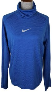 Nike Nike Blue Cowl Neck Long Sleeve Pullover