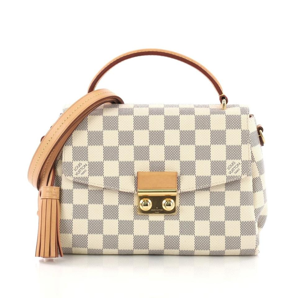 7102f43b10b Louis Vuitton Croisette Damier Azur Blue White Canvas Cross Body Bag