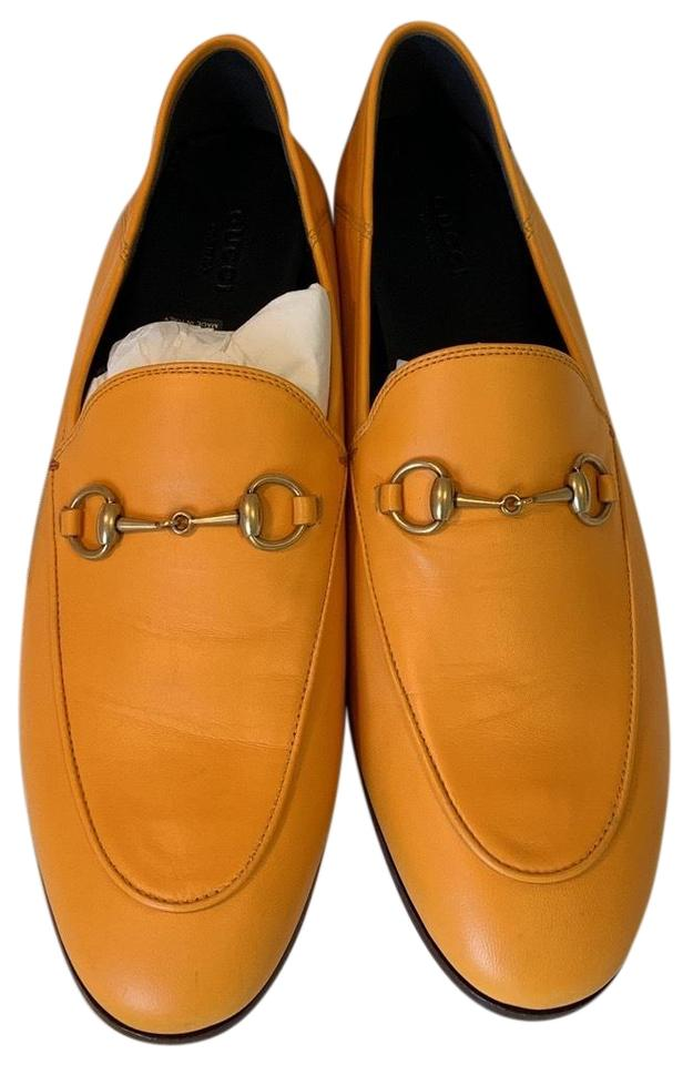 3d6bebd6578 Gucci Yellow 10mm Britton Leather Loafer. Sneakers Size US 10 ...