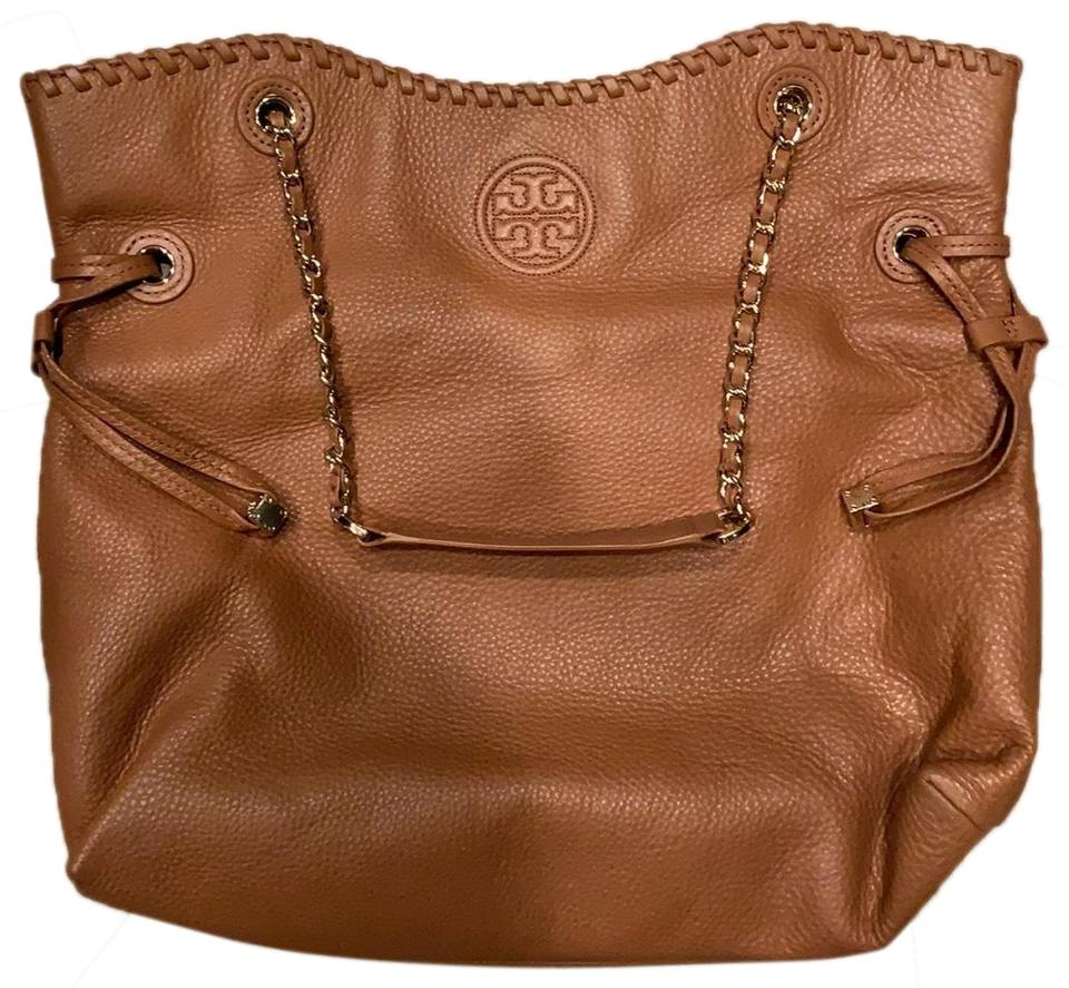 3ba04cb581a3 Tory Burch Marion Soft Bark Brown Tan Leather Hobo Bag - Tradesy