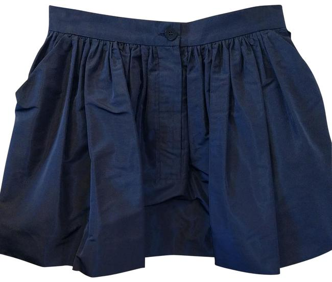 Item - Blue Faille Pleated with Pockets Skirt Size 8 (M, 29, 30)
