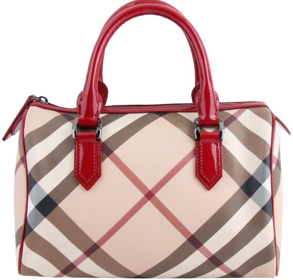 60d6996ff1b9 Burberry Nova Check Small Chester Bowling Multicolor Coated Canvas Tote