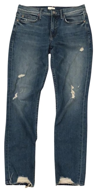 Item - Distressed The Flirt In Cold Feet Straight Leg Jeans Size 4 (S, 27)