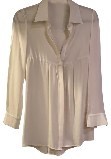 Item - White And Button-down Top Size 4 (S)