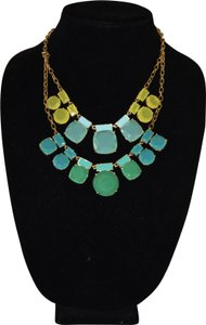 Kate Spade Kate Spade Blue Green Yellow Gold Cause A Stir Statement Necklace