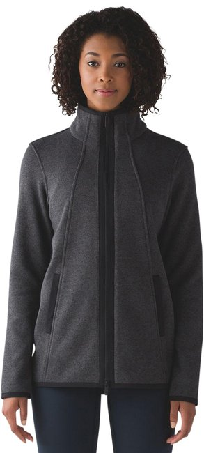 Item - Black Its Fleecing Cold Jacket Heathered Activewear Gear Size 6 (S, 28)
