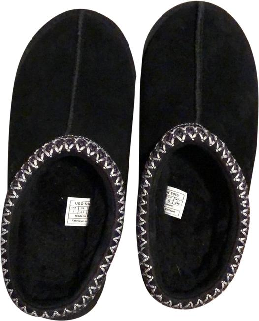 Item - Black Tasman Slipper Flats Size US 7 Regular (M, B)