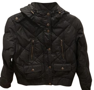 Burberry Brit Black with Burberry Grey Print Inside Leather Jacket