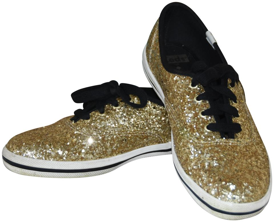aa1c6d8cf9f Kate Spade Gold Women s Keds X New York Champion Glitter Sneakers ...