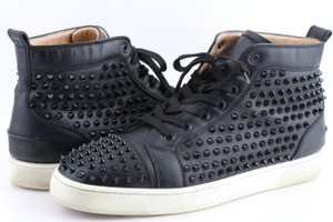 c517a36934dc Christian Louboutin Black Louis Studded Hi-top Sneakers Shoes