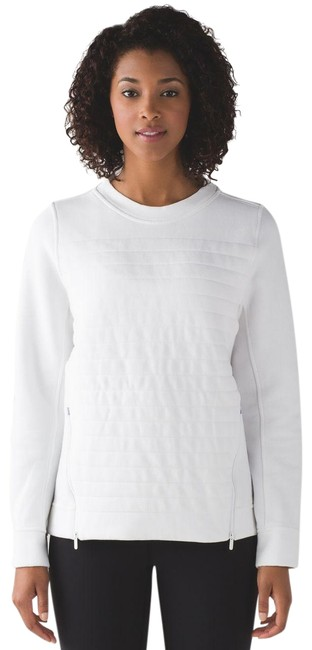 Preload https://img-static.tradesy.com/item/24886735/lululemon-white-embrace-fleece-be-true-crew-sweatshirthoodie-size-6-s-0-1-650-650.jpg
