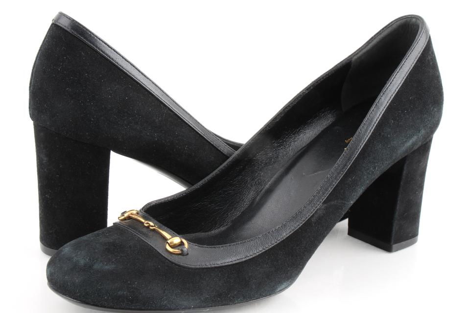162fba13f8e Gucci Black Horsebit Suede Pumps Size US 9 Regular (M