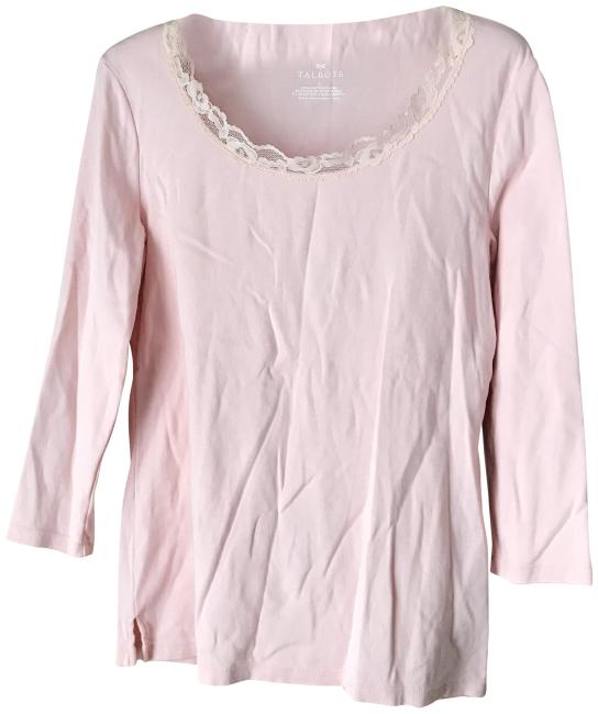 Item - Pink/Pink Lace Neckline Tee Shirt Size 6 (S)