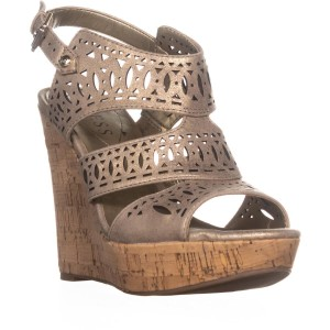 4bfada5122d Guess Beige Vannora Ankle Strap Heels Light Wedges Size US 7.5 ...