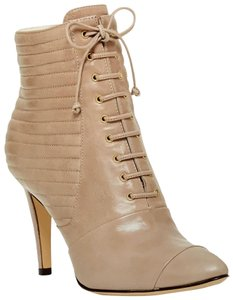 """Coye Nokes Leather Bottle Taupe 4"""" Heel Silvia Taupe Boots"""