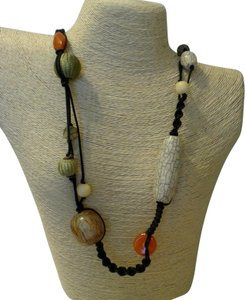 Other Women Macrame Beaded Necklace