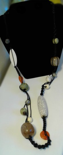 Other Women Macrame Beaded Necklace Image 1
