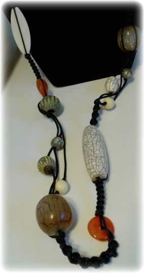 Other Women Macrame Beaded Necklace Image 2