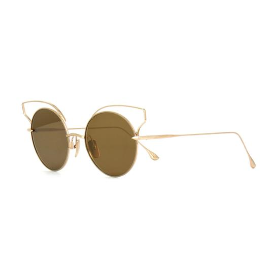 Dita New Dita Believer Sunglasses 23008B Tan 12K Gold / Dark Brown Gold Image 1