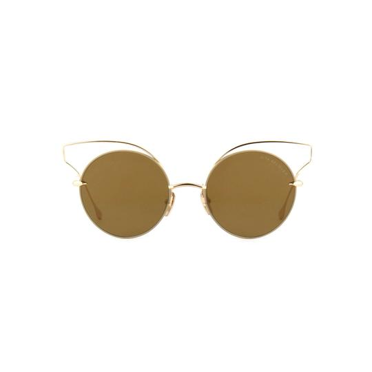 Dita New Dita Believer Sunglasses 23008B Tan 12K Gold / Dark Brown Gold Image 2