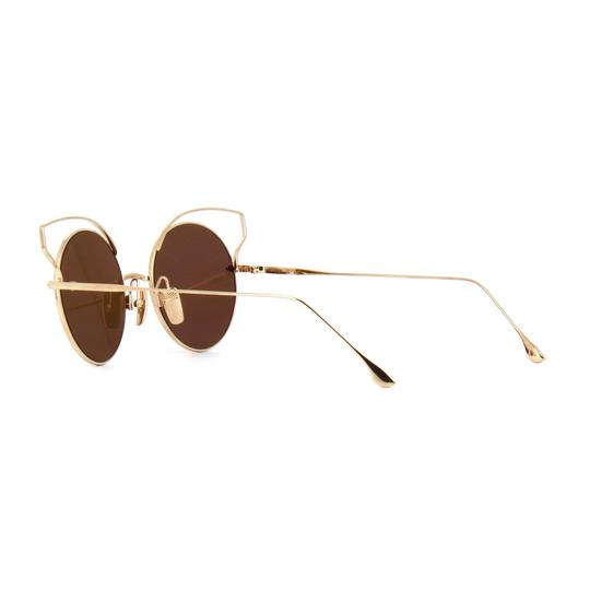 Dita New Dita Believer Sunglasses 23008B Tan 12K Gold / Dark Brown Gold Image 3
