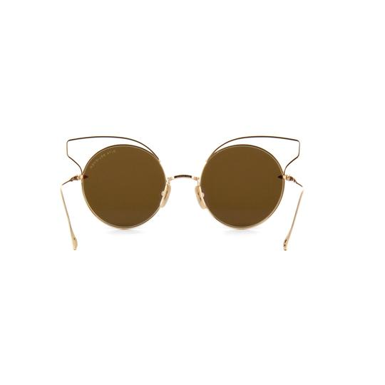 Dita New Dita Believer Sunglasses 23008B Tan 12K Gold / Dark Brown Gold Image 5