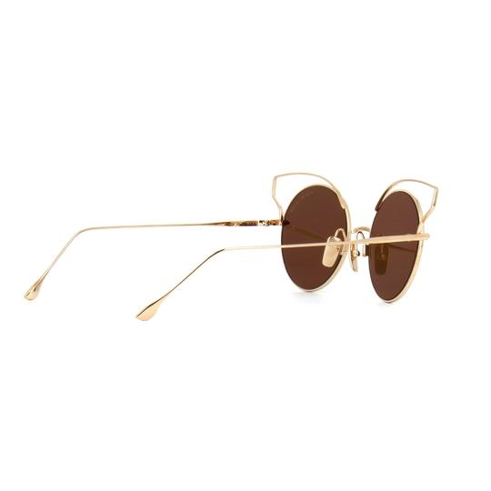 Dita New Dita Believer Sunglasses 23008B Tan 12K Gold / Dark Brown Gold Image 7
