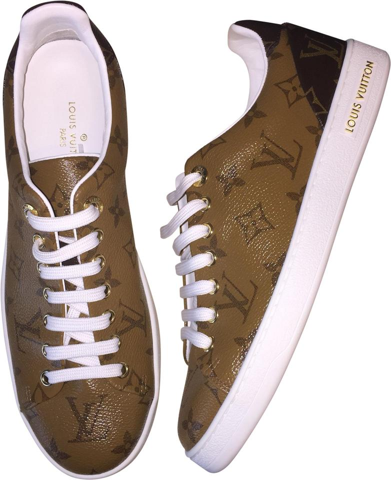 f63b8d014c1c Louis Vuitton Brown Frontrow Reverse Monogram Sneaker Lv 1a39dn ...