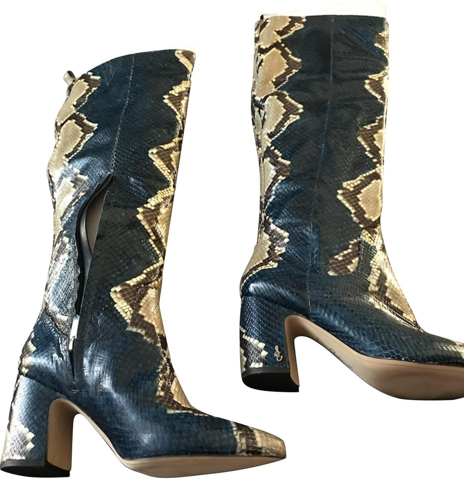 5902e84f749a Sam Edelman Peacock Blue Hai Boots Booties Size US 9 Regular (M