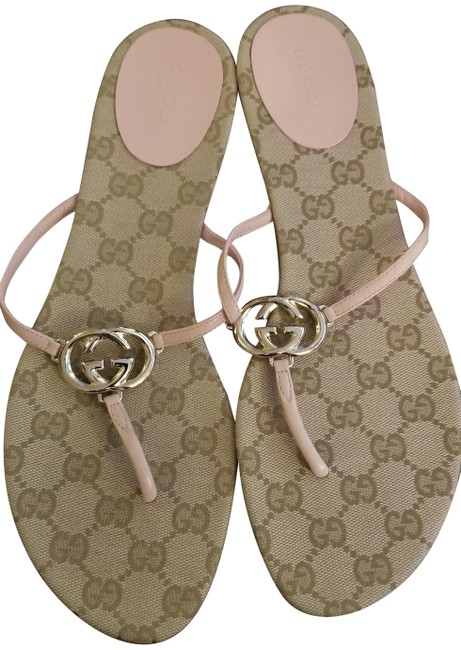 Item - Pink Leather Sandals Size EU 40 (Approx. US 10) Wide (C, D)