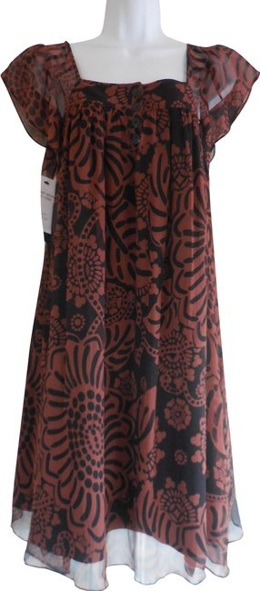 Preload https://img-static.tradesy.com/item/24887445/tibi-brown-and-black-floral-print-new-silk-flutter-sleeve-a-line-mid-length-short-casual-dress-size-0-1-650-650.jpg