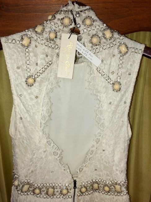 Alice + Olivia And Lace Embellished Dress