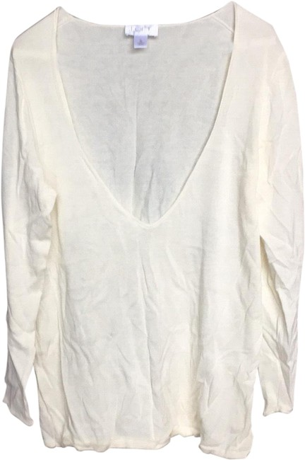 Preload https://img-static.tradesy.com/item/24887477/ann-taylor-loft-cream-tee-shirt-size-16-xl-plus-0x-0-1-650-650.jpg