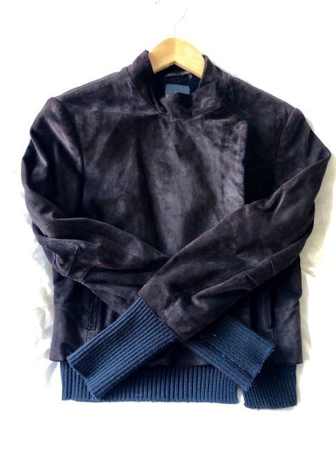 Fendi Suede Made In Italy Designer Imported Runway Brown Leather Jacket