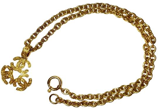 Preload https://img-static.tradesy.com/item/24887512/chanel-gold-long-double-chain-chunky-triple-cc-runway-pendant-necklace-0-2-540-540.jpg