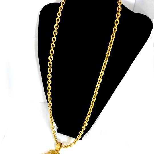 Chanel Long Double Chain Chunky Triple CC Runway Pendant Necklace