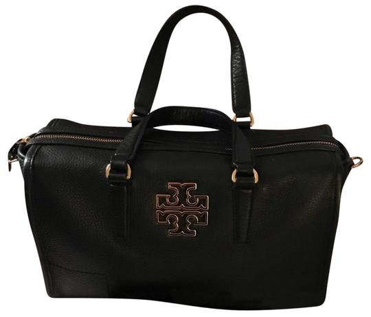 Preload https://img-static.tradesy.com/item/24887561/tory-burch-britten-pebbled-black-leather-satchel-0-1-540-540.jpg