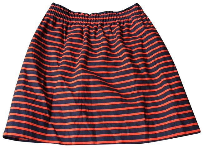 Item - Orange and Navy New Without Tag Skirt Size 4 (S, 27)