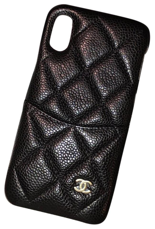 huge selection of 09d93 8ea84 Chanel Noir Iphone X Classic Case Rare Tech Accessory