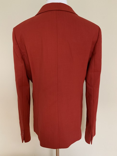 Max Mara Wool Stretch Jacket Rich Brick Red Blazer