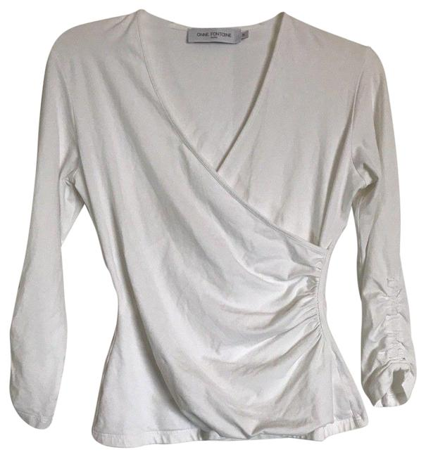 Preload https://img-static.tradesy.com/item/24887819/anne-fontaine-faux-wrap-white-sweater-0-1-650-650.jpg