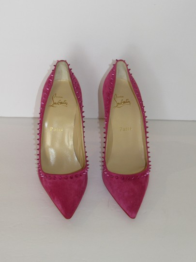 Christian Louboutin Red Sole With Box Spiked Pink Pumps