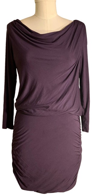 Preload https://img-static.tradesy.com/item/24887927/theory-purple-ruched-body-con-stretch-short-casual-dress-size-4-s-0-1-650-650.jpg
