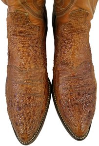 Dan Post Boots Bullfrog Exotic Leather Man Size 7 Western Cowboy brown Boots
