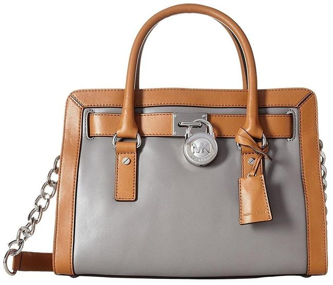 Item - East West Hamilton Frame Out (New with Tags) Steel Grey Acorn/Silver Hardware Leather Satchel